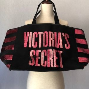 Victoria Secret Sequins Canvas Tote